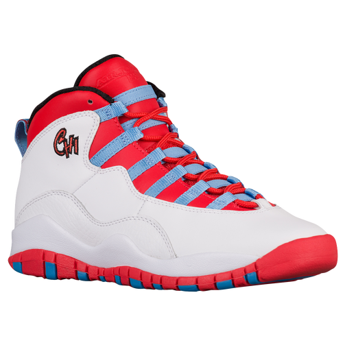 1551b75d7b1a Jordan Retro 10 - Boys  Grade School - Casual - Basketball - Light Smoke  Grey Black University Red White