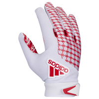 adidas adiFAST 2.0 Receiver Gloves - Men's - White / Red