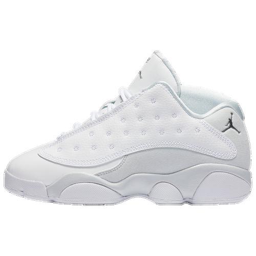5f0c27e7aba Jordan Retro 13 Low - Boys' Preschool - Basketball - Shoes - White/Metallic  Silver/Pure Platinum