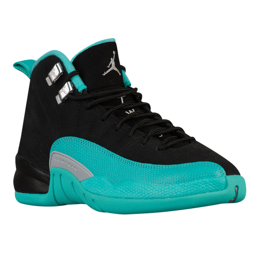 Jordan Retro 12 - Girls Grade School - Basketball - Shoes - BlackMetallic  SilverHyper Jade ... 35353af1b