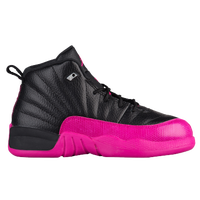 Jordan Retro 12 - Girls  Preschool - Black   Pink e4e1f049f