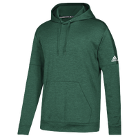 adidas Team Issue Fleece Pullover Hoodie - Men's - Dark Green / White