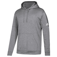 adidas Team Issue Fleece Pullover Hoodie - Men's - Grey / White