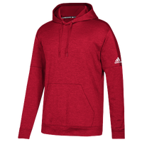 adidas Team Issue Fleece Pullover Hoodie - Men's - Red / White