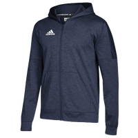 adidas Team Issue Fleece Full Zip Hoodie - Men's - Navy / White