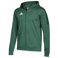adidas Team Issue Fleece Full Zip Hoodie - Men's - Dark Green / White