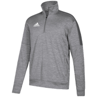 adidas Team Issue Fleece 1/4 Zip - Men's - Grey / White