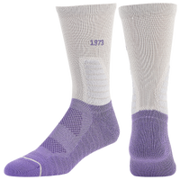 PUMA Court Three Crew Socks - Men's - Grey / Purple