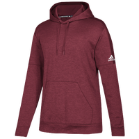 adidas Team Issue Fleece Pullover Hoodie - Women's - Maroon / White
