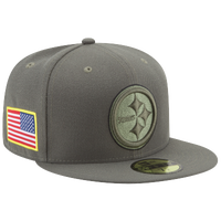 0adb4bd3f New Era NFL 59Fifty Salute To Service Cap - Men s - Pittsburgh Steelers -  Olive Green