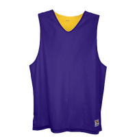 Eastbay Basic Reversible Mesh Tank - Men's - Purple / Yellow