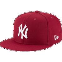 sports shoes 0351c c0fc7 New Era MLB 59Fifty Basic Cap - Men s - New York Yankees - Cardinal   White