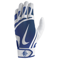 Nike Huarache Edge Batting Gloves - Men's - White / Blue