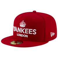 New Era MLB 59Fifty London Series Fitted Cap - Men's - New York Yankees - Red