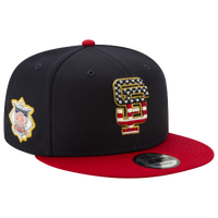 New Era MLB 9fifty July 4th Snapback Cap - Men's - San Francisco Giants - Navy