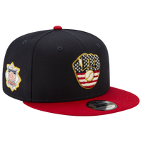 New Era MLB 9fifty July 4th Snapback Cap - Men's - Milwaukee Brewers - Navy