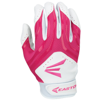 Easton HF3 Hyperskin Fastpitch Batting Gloves - Grade School - White / Pink