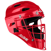 All Star Player's Series 2300SP Catcher's Head Gear - Red / Red