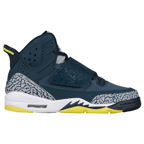 Jordan Son of Mars - Boys' Grade School - Navy / Light Green