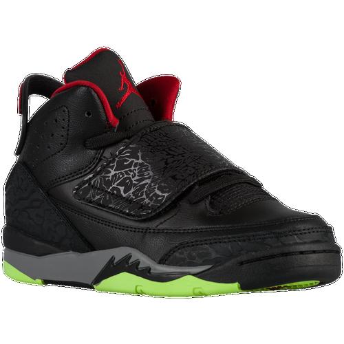 Jordan Son of Mars - Boys' Preschool - Basketball - Shoes - Black/Gym Red/Cool  Grey/Green Pulse