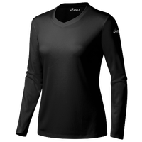 ASICS® Ready-Set Long Sleeve T-Shirt - Women's - All Black / Black