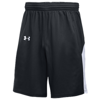 Under Armour Team Fury Shorts - Boys' Grade School - Black / White