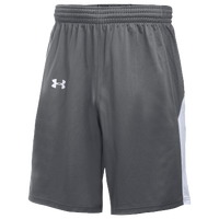 Under Armour Team Fury Shorts - Boys' Grade School - Grey / White