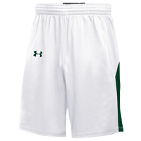 Under Armour Team Fury Shorts - Boys' Grade School - White / Dark Green