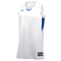 Under Armour Team Fury Jersey - Boys' Grade School - White / Blue