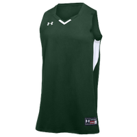Under Armour Team Fury Jersey - Boys' Grade School - Dark Green / White