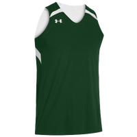 Under Armour Youth Team Clutch Reversible Jersey - Boys' Grade School - Dark Green / White