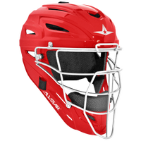 All Star System 7 MVP Catcher's Head Gear - Red / White
