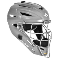 All Star System 7 MVP Catcher's Head Gear - Silver / Silver