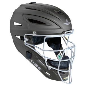 All Star System 7 MVP Catcher's Head Gear - Matte Black