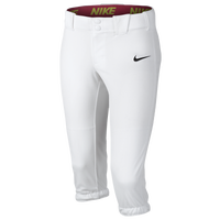 Nike Girls Softball Diamond Invader 3/4 Pants - Girls' Grade School - White / White