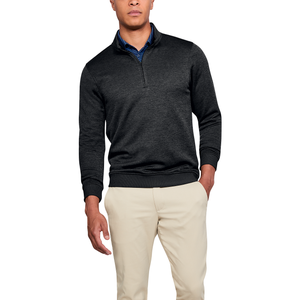 Under Armour Storm Golf Sweaterfleece 1/4 Zip - Men's - Black Full Heather/Black