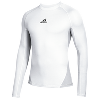adidas Team Alphaskin Long Sleeve Warm Top - Men's - White