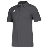 adidas Team Game Mode Full Button Polo - Men's - Grey
