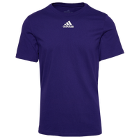 adidas Team Amplifier Short Sleeve T-Shirt - Men's - Purple