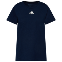 adidas Team Amplifier Short Sleeve T-Shirt - Women's - Navy