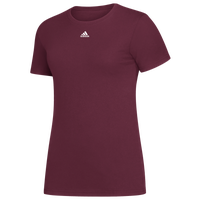 adidas Team Amplifier Short Sleeve T-Shirt - Women's - Maroon