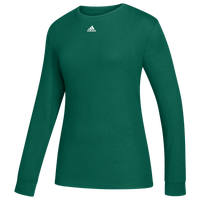 adidas Team Amplifier Long Sleeve T-Shirt - Women's - Dark Green