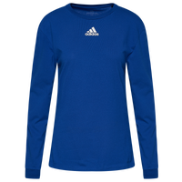 adidas Team Amplifier Long Sleeve T-Shirt - Women's - Blue