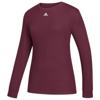 adidas Team Amplifier Long Sleeve T-Shirt - Women's - Maroon