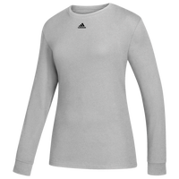 adidas Team Amplifier Long Sleeve T-Shirt - Women's - Grey