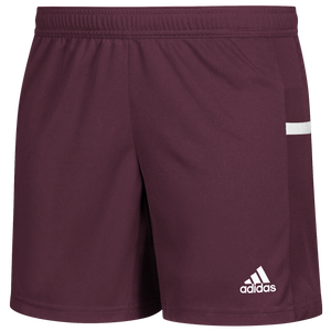 adidas Team 19 Knit Shorts - Women's - Maroon/White