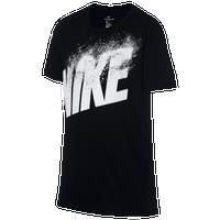 Nike Dissolve Logo T-Shirt - Boys' Grade School - Black / White