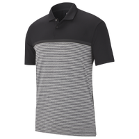 Nike TW Vapor Strip Block Polo - Men's - Black / Grey