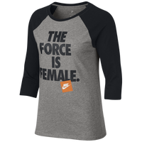 various colors acc4b 9cf49 Nike Force is Female Raglan T-Shirt ...