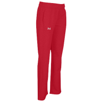 Under Armour Team Hustle Fleece Pants - Women's - Red / Red